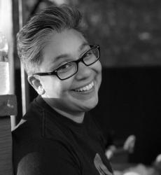 Bio: Patty Barahona is a ladyboi who lives in West Oakland. An educator, creative thinker, and passionate trainer who works in the non-profit, youth development field. She is a the proud parent of a 2 year old names Myles.